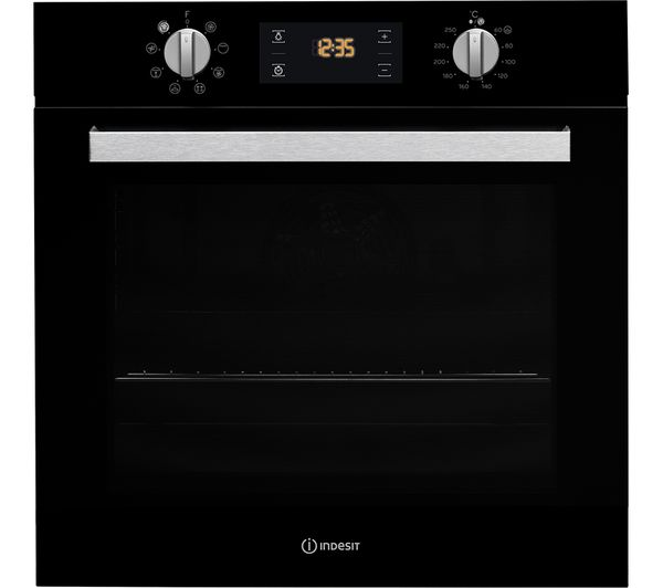 Image of INDESIT Aria IFW 6340 BL Electric Oven - Black