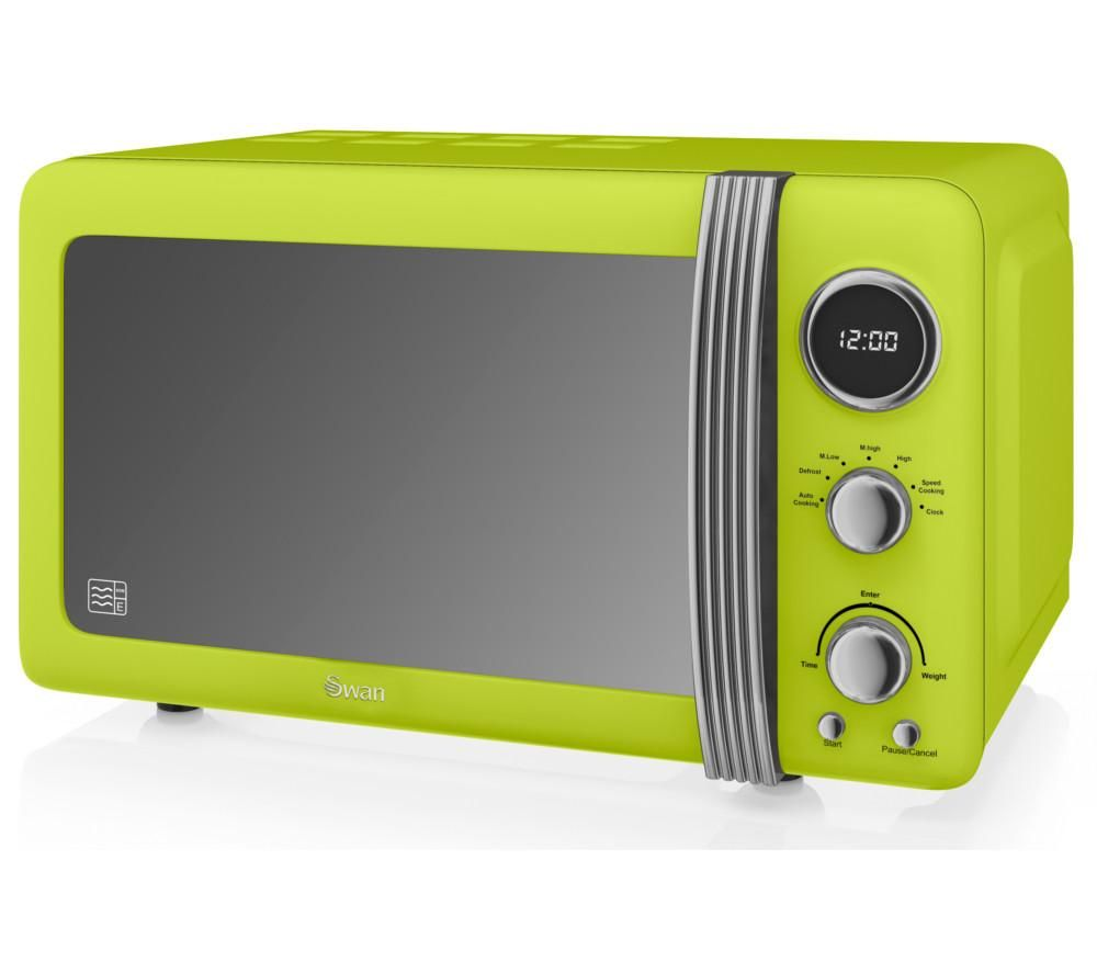 SWAN Retro SM22030LN Solo Microwave - Lime