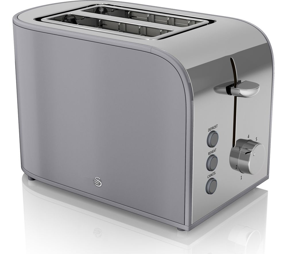 SWAN Retro ST17020GRN 2-Slice Toaster - Grey