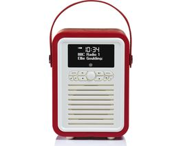 VQ Retro Mini Portable DAB+/FM Bluetooth Radio - Red