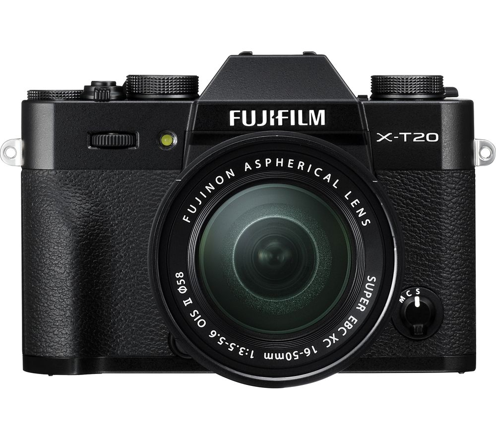 FUJIFILM X-T20 Mirrorless Camera with XC 16-50 mm f/3.5-5.6 OIS II Lens + PHKP001 Tripod - Black