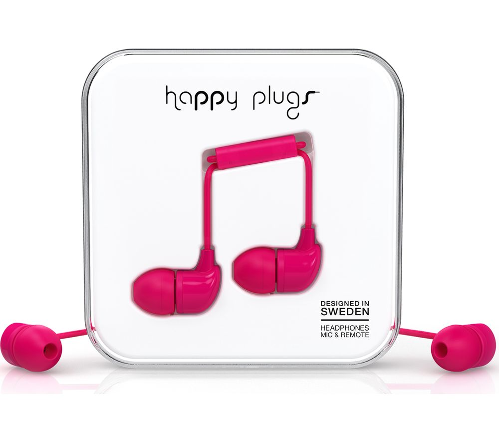 HAPPY PLUGS HP7724 Headphones - Cerise