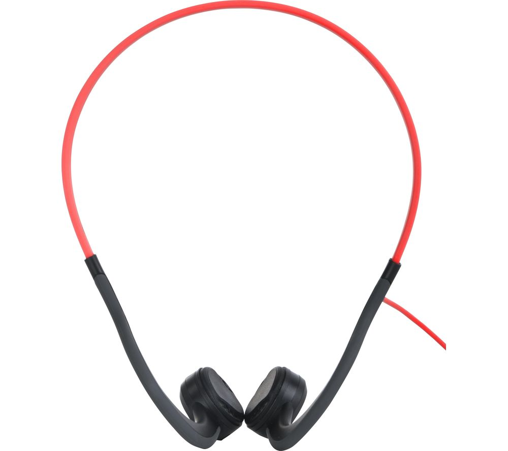 Image of AFTERSHOKZ Sportz Titanium Noise-Cancelling Headphones - Red, Titanium