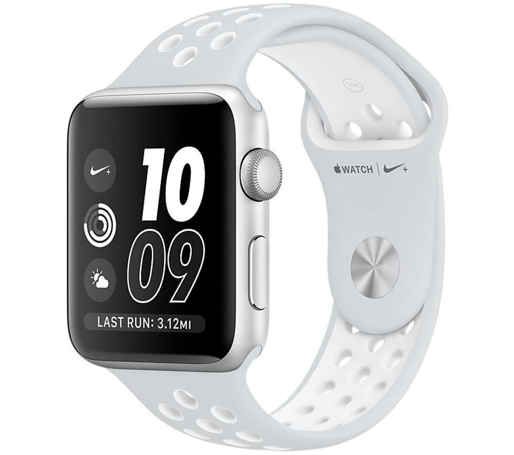 Image of APPLE WATCH NIKE 42MM SIL PLATWHT-GBR