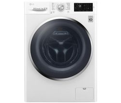 LG Direct Drive F4J6AM2W NFC 8 kg Washer Dryer - White