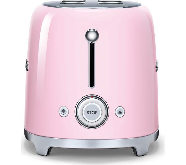 Buy Smeg Tsf02pkuk 4 Slice Toaster Pink Free Delivery