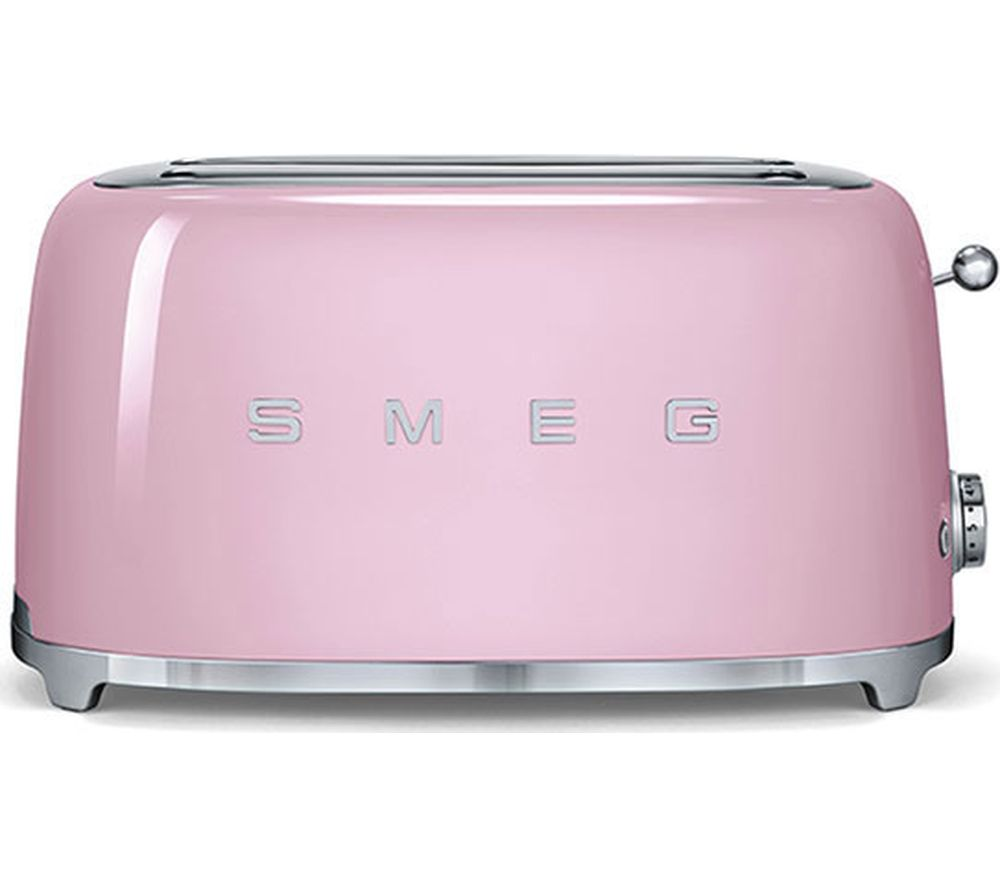 SMEG TSF02PKUK 4-Slice Toaster - Pink