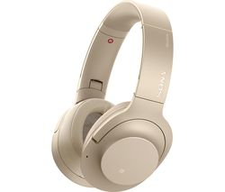SONY WH-H900N Wireless Bluetooth Noise-Cancelling Headphones - Gold