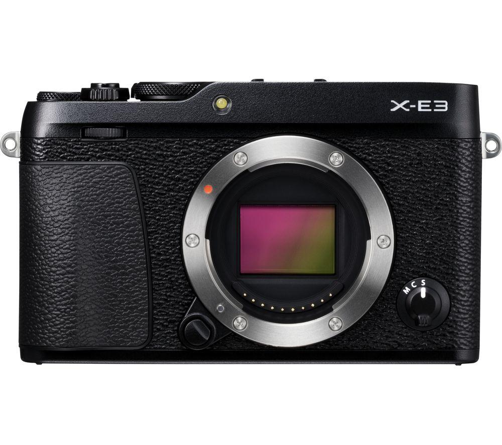 Fujifilm X E3 Mirrorless Camera Black Body Only Black