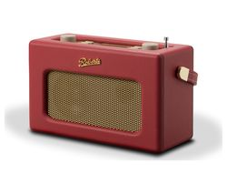 ROBERTS Revival RD70RE Portable DAB+/FM Retro Bluetooth Clock Radio - Red