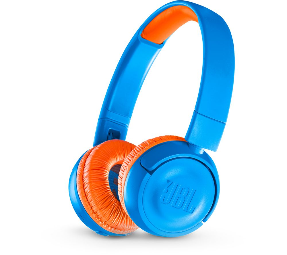 JBL JR300BT Wireless Bluetooth Kids Headphones - Rocker Blue