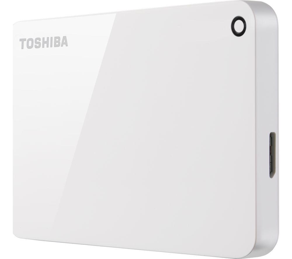 TOSHIBA Canvio Advanced Portable Hard Drive - 1 TB, White