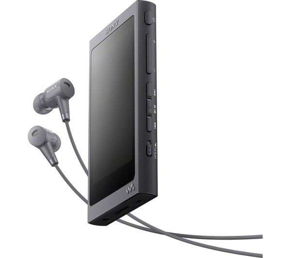Image of SONY Walkman NW-A45HNB Touchscreen MP3 Player with Noise-Cancelling Headphones - 16 GB, Black