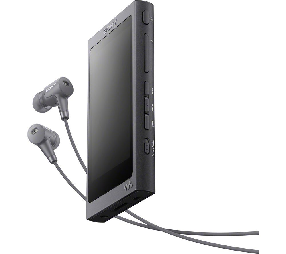 Image of SONY Walkman NW-AW45HNB MP3 Player with Noise-Cancelling Headphones - 16 GB, Black, Black