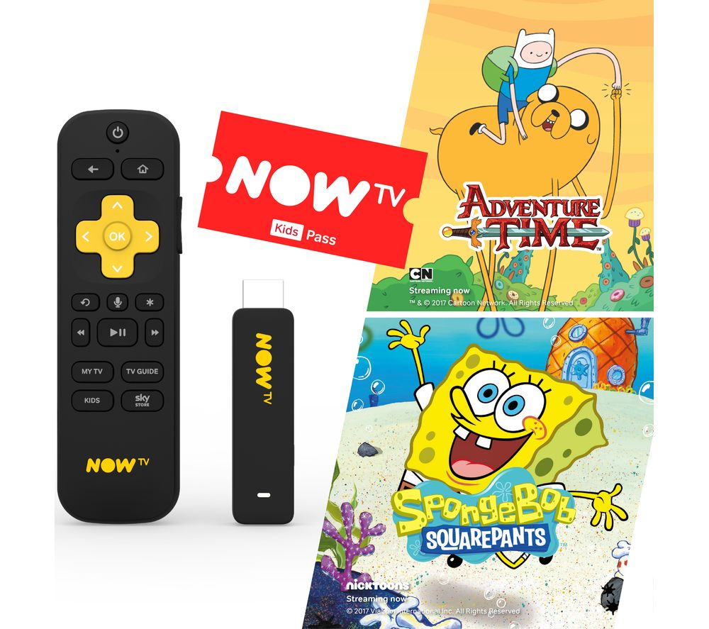 NOW TV Smart Stick with HD & Voice Search - 3 Month Kids Pass