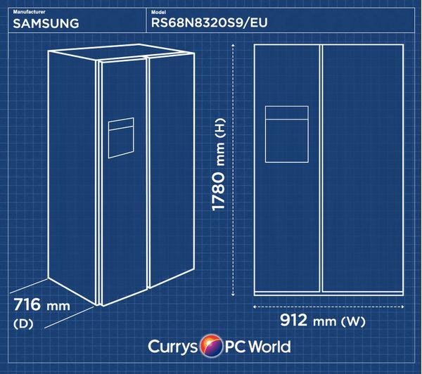 Samsung Rs8000 Rs68n8320s9 Eu American Style Fridge