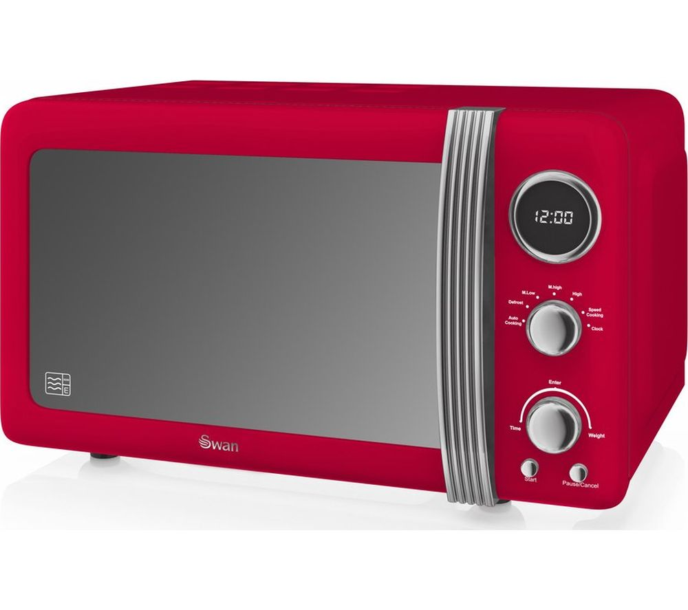 SWAN SM22030RN Solo Microwave - Red, Red