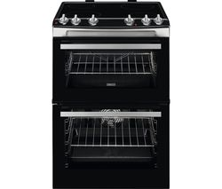 ZANUSSI ZCV660TRXE 60 cm Electric Ceramic Cooker - Stainless Steel Best Price, Cheapest Prices