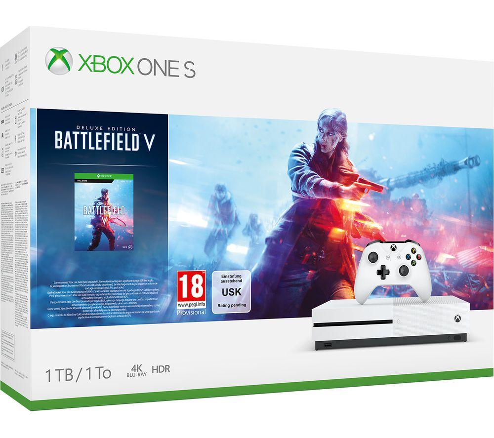 MICROSOFT Xbox One S with Battlefield V