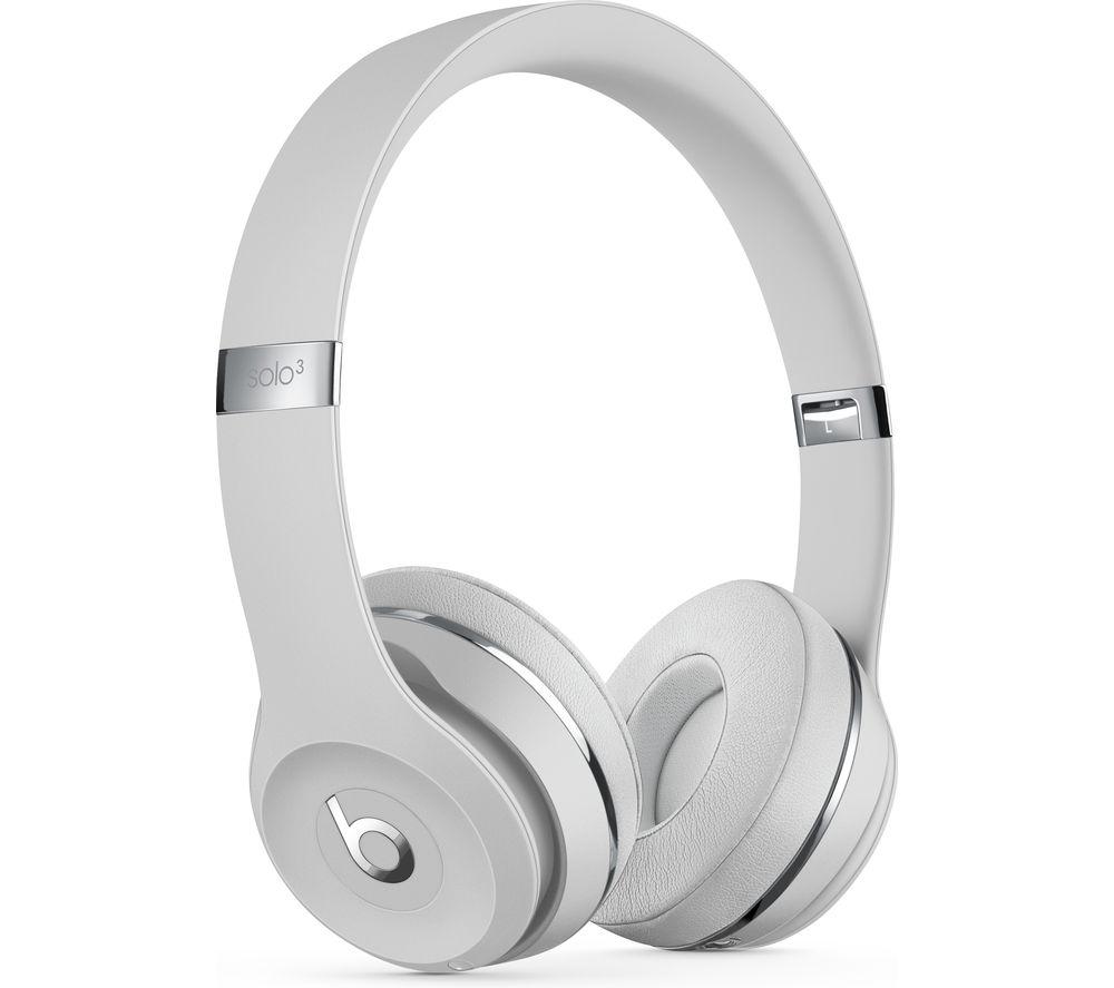 BEATS Solo 3 Wireless Bluetooth Headphones - Satin Silver