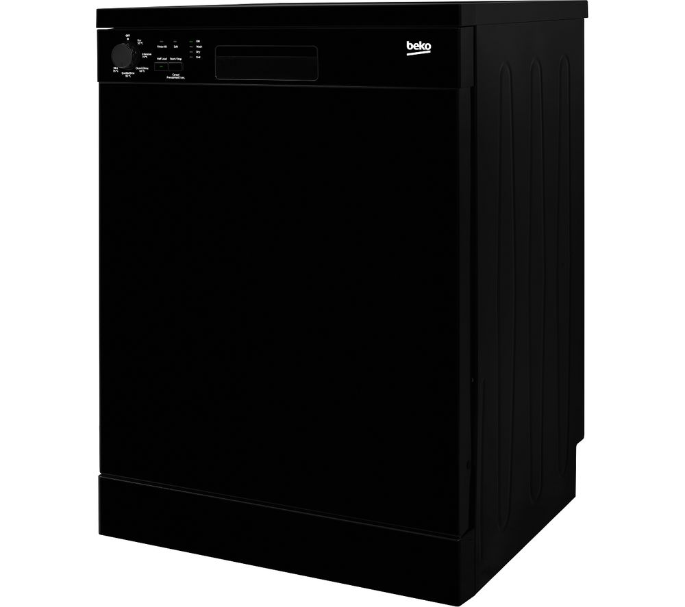 BEKO DFN05310B Full-size Dishwasher - Black, Black