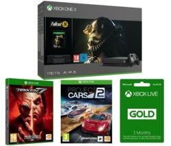 MICROSOFT Xbox One X, Fallout 76, Tekken 7, Project Cars & 3 Months LIVE Gold Membership Bundle