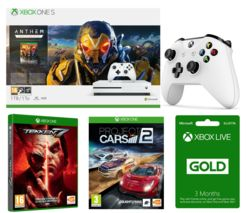 MICROSOFT Xbox One S, Anthem, Tekken 7, Project Cars 2, Wireless Controller & 3 Months LIVE Gold Bundle
