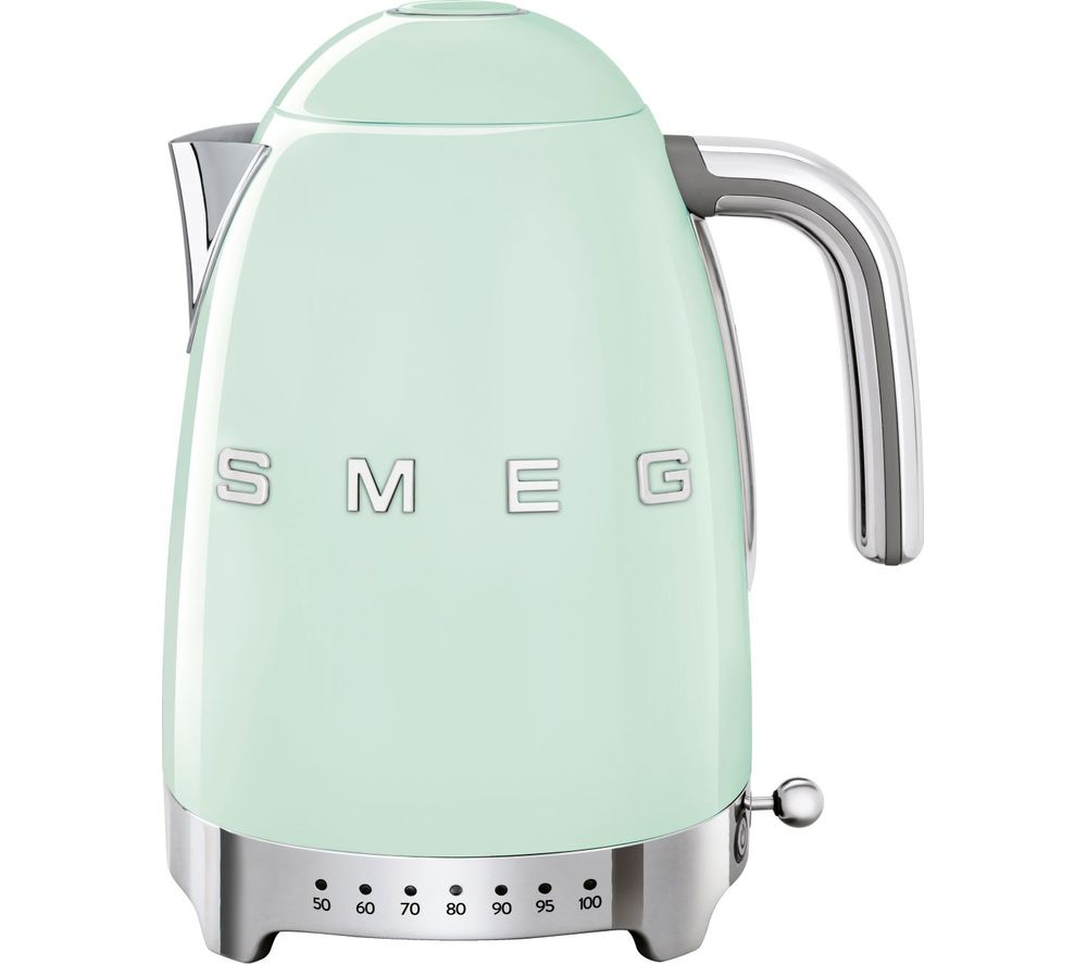 50s Retro Style KLF04PGUK Jug Kettle - Pastel Green, Green