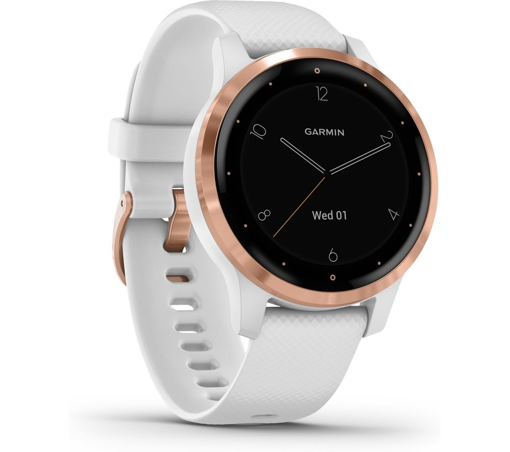 GARMIN Vivoactive 4S - White & Rose Gold, Small