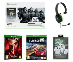 MICROSOFT Xbox One S Gears 5 Special Edition with Tekken 7, Project Cars 2, Docking Station and Gaming Headset Bundle - 1 TB