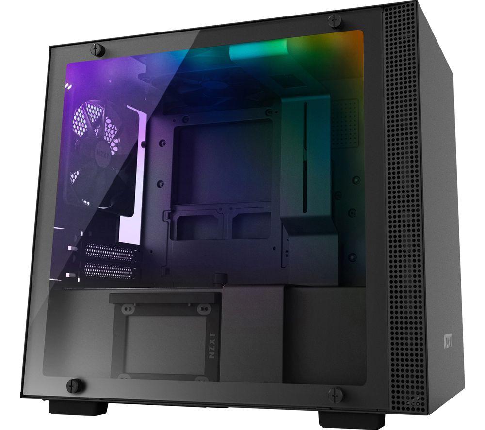 Image of H200i Mini-ITX Mid-Tower PC Case - Black, Black