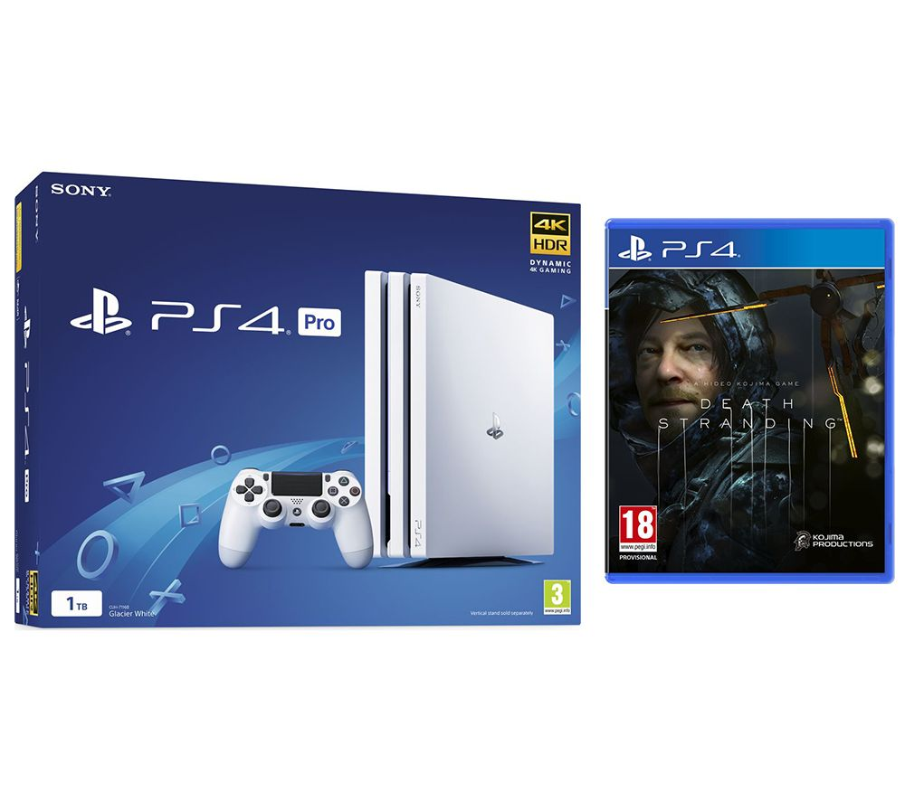 SONY PlayStation 4 Pro & Death Stranding Bundle - White, White