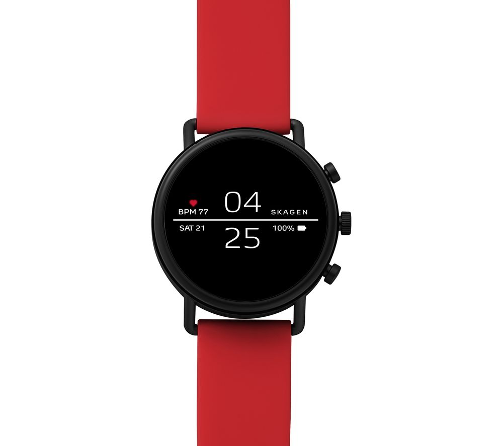Image of SKAGEN Falster 2 Smartwatch - Red, Silicone Strap, Red