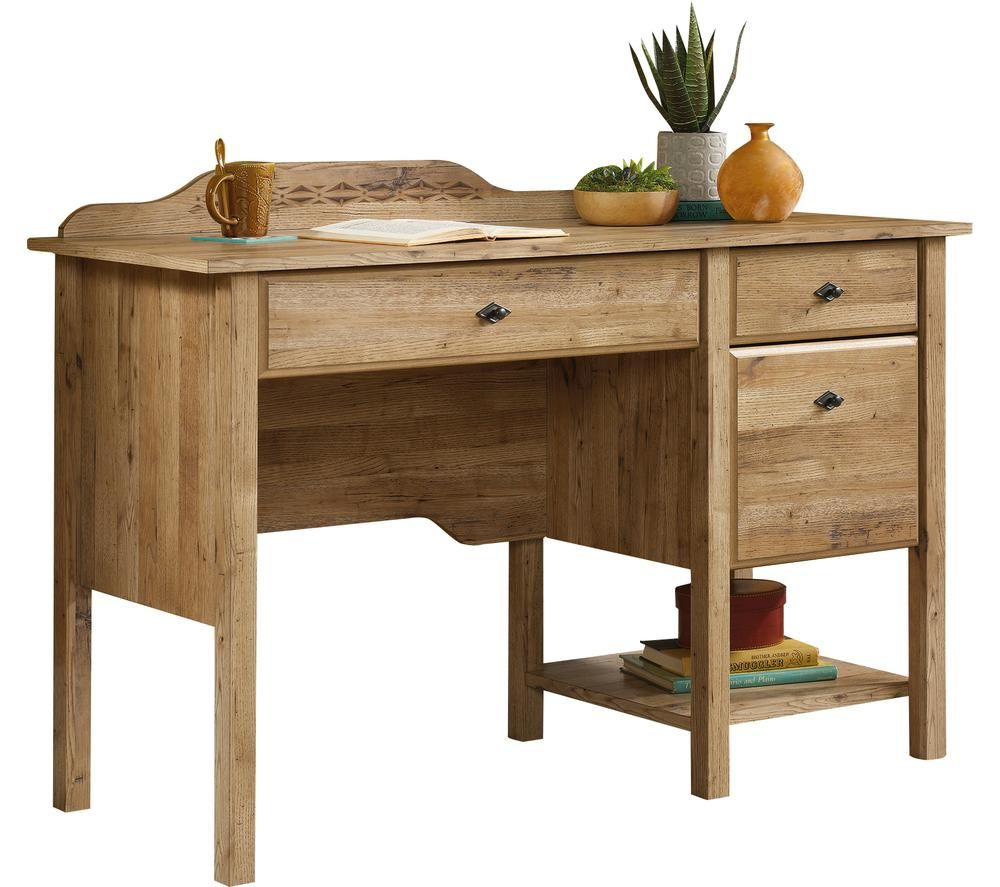 Image of TEKNIK Spanish Style Desk - Antiqua Chestnut