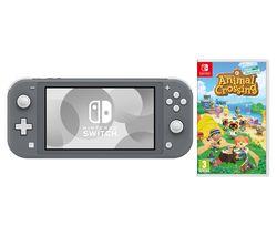 Switch Lite Grey & Animal Crossing: New Horizons Bundle