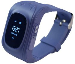 Intigo P1 Kids Smartwatch - Dark Blue, Rubber Strap