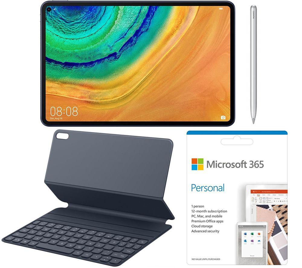 "Image of HUAWEI MatePad Pro 10.8"" Tablet, Keyboard Folio, Smart Pen & Microsoft 365 Personal Bundle - 1 year for 1 user, Blue"