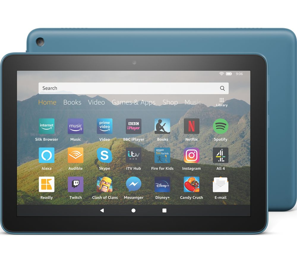 Image of AMAZON Fire HD 8 Tablet (2020) - 64 GB, Blue, Blue