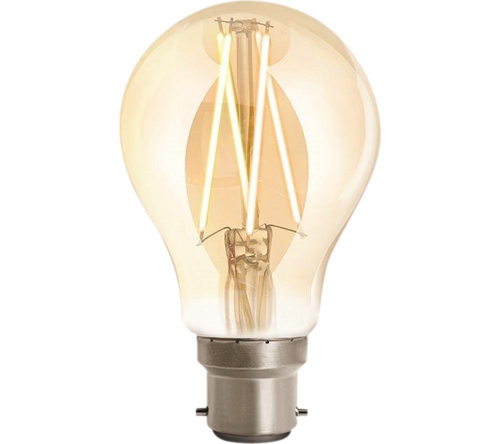 WIZ CONNEC Whites Filament Dimmable Smart LED Light Bulb - B22, Warm White, White