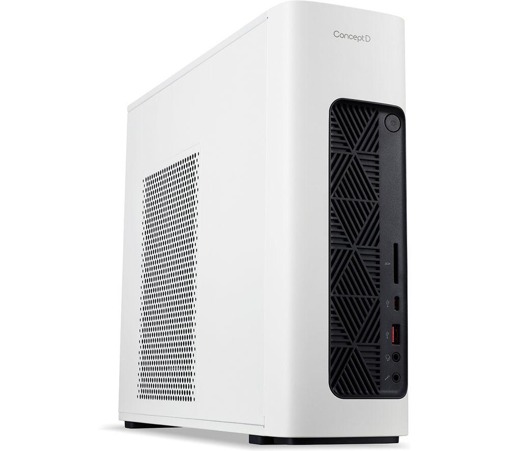 ACER ConceptD CM100-51A Desktop PC - Intel�Core? i7, 1 TB HDD & 1 TB SSD, White, White