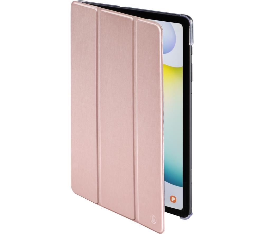 """HAMA Essential Fold Clear 10.4"""" Samsung Galaxy Tab S6 Lite Case - Rose Gold"""