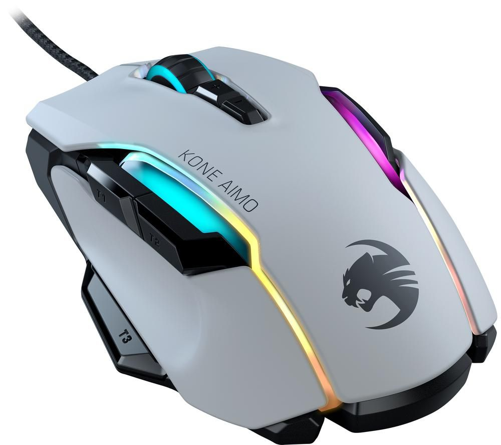 Image of ROCCAT Kone AIMO RGB Optical Gaming Mouse - White, White