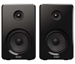 D40 Bluetooth Bookshelf Speakers - Black