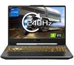 £1499, ASUS TUF Dash F15 15.6inch Gaming Laptop - Intel® Core™ i7, RTX 3060, 1 TB SSD, Intel® Core™ i7-11800H Processor, RAM: 16GB / Storage: 1 TB SSD, Graphics: NVIDIA GeForce RTX 3060 6GB, 229 FPS when playing Fortnite at 1080p, Full HD screen / 240 Hz,
