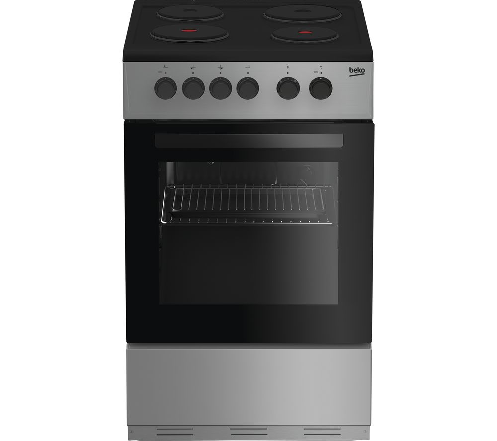BEKO KS530S 50 cm Electric Solid Plate Cooker - Silver