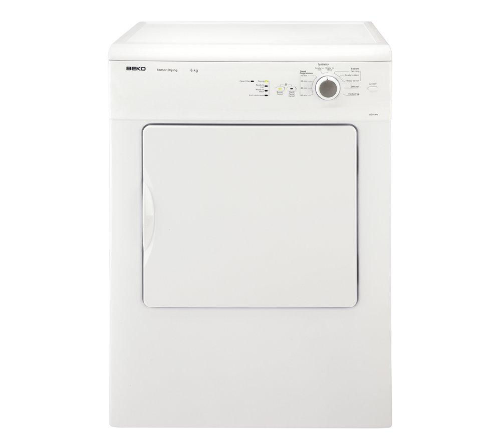 BEKO DSV64W Vented Tumble Dryer - White + DFN05X10W Full-size Dishwasher - White