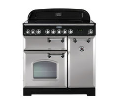 RANGEMASTER Classic Deluxe 90 Electric Induction Range Cooker - Royal Pearl & Chrome