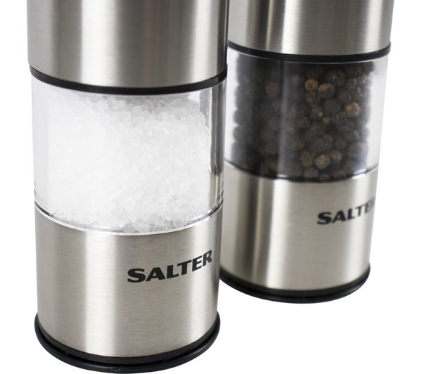 Salter Electronic Mill Set Stainless Steel