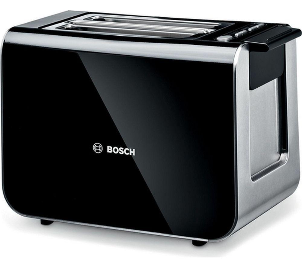 BOSCH Styline TAT8613GB 2-Slice Toaster - Black + Styline Sensor TWK86103GB Jug Kettle - Black
