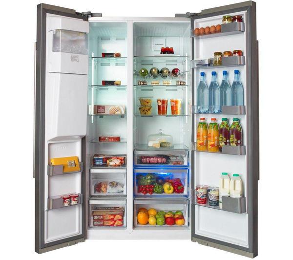 Large Capacity American Fridge Freezer Part - 24: GRUNDIG GSBS13310X American-Style Fridge Freezer - Stainless Steel